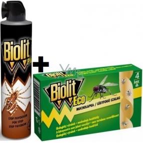 Biolit Plus Stop spider spray 400 ml + Biolit Eco fly fly 4 pieces