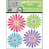 Room Decor Wall Stickers 3D Colorful Flowers 20 x 20 x 1 cm 4 pieces