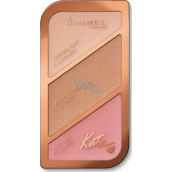 Rimmel London Kate Sculpting Palette konturovací paleta 001 Golden Sands 18,5 g