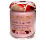 Heart & Home Jahodová zmrzlina Sojová vonná svíčka střední hoří až 30 hodin 110 g