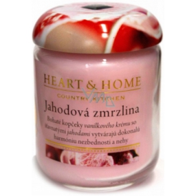 Heart & Home Strawberry ice cream Soy scented candle medium burns up to 30 hours 110 g