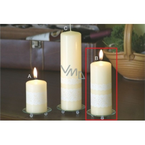 Lima Lace candle creme cylinder 60 x 150 mm 1 piece