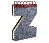 If Alphabooks Note Books Notebook in the form of letter Z 91 x 14 x 124 mm