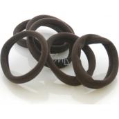 Vlasová gumička tmavě hnědá 3 x 0,8 cm 4 kusy