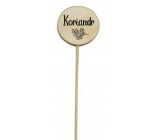 Bohemia Gifts Wooden reeds for herbs with print - coriander. The wheel diameter is 5-8 cm,