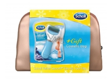 Scholl Velvet Smooth Electric nail file medium-hard with minerals + cosmetic bag