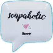 Bomb Cosmetics Soapaholic Soap Dish Ceramic soap dish 12.5 x 12.5 cm