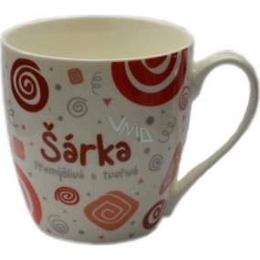Nekupto Twister mug named Sarka red 0.4 liter