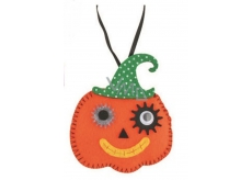 Felt pumpkin for hanging 8 cm