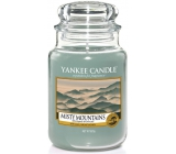 YANKEE CANDLES scented glass Misty Mountains 3693
