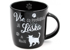 Nekupto Hafani ceramic mug black Cat 300 ml