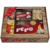 Pe-Po Gift Pack 2019 solid lighter 2 pcs + chimney sweep + wood wool lighter + 2in1 lighter + matches 55 mm + Camino matches + Camino matches, fireplace set