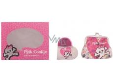 Pink Cookie eau de toilette for children 25 ml + wallet, gift set
