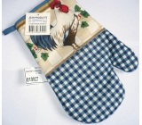 Kitchen gloves with strap different colors and motives 1 piece