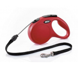 Flexi New Classic self-winding leash S 5 m to 12 kg red / cable