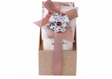 Salsa Collection White Tea and Rose Water bath foam 80 ml + body lotion 60 ml + bath salt 100 ml + solid soap 40 g gift set