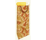 Nekupto Gift kraft bottle bag 15 x 40 cm Snowy houses Christmas WHLH
