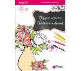 Ditipo Glitter coloring book Vase 21 x 30 cm