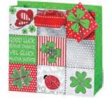 BSB Luxury gift paper bag 23 x 19 x 9 cm Four-leaf clover LDT 365-A5
