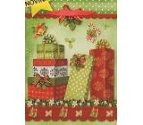 Nekupto Gift paper bag big 32,5 x 26 x 13 cm Christmas 1484 50 WBL