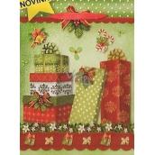 Nekupto Dárková papírová taška velká 32,5 x 26 x 13 cm Vánoční 1484 50 WBL