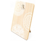 Nekupto Home Decor Wooden board with clip 17 x 13 x 0.6 cm