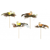 Bird with nest 14 cm groove + skewers 1 piece