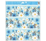 Window film with glitter flowers 33x30 cm tape flowers