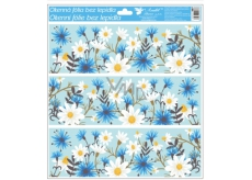 Glue-free window foil with glitter flower tape 33 x 30 cm