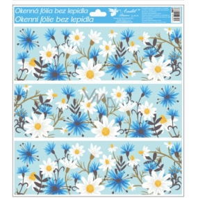 Room Decor Window foil without glue with glitter flowers tape 33 x 30 cm
