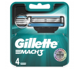 Gillette Mach3 spare head 4 pieces, for men