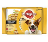 Pedigree Vital Protection with chicken and vegetables, with beef and vegetables in juice pouch 4 x 100 g