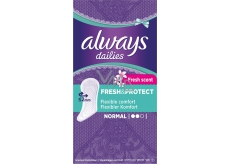 Always Dailies Fresh & Protect Fresh Scent Normal with a delicate scent of 30-piece intimate panty liner