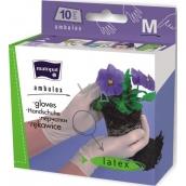 Matopat Ambulex rukavice latexové pudrované velikost M 10 kusů