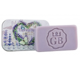 Bohemia Gifts Handmade toilet soap with glycerin in a tin box Heart - Lavender 80 g