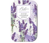 Bohemia Gifts Lavender handmade toilet soap with glycerin in a tin box 80 g