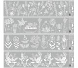 Window foil stripes white 64 x 15 cm