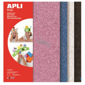 Apli Foam with glitter (pink, blue, silver, black) 210 x 297 x 2 mm A4 4 sheets