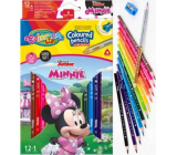 Colorino Crayons triangular Disney Minnie 13 colors