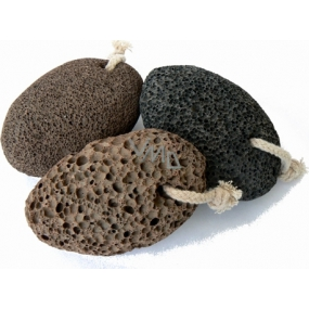 Natural volcanic pumice 11 x 7 cm with a loop for hanging 1 piece