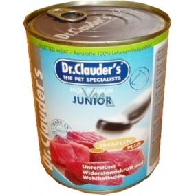 Dr. Clauders Junior Hovězí, kuřecí, vepřové maso pro štěnata 100% masa 800 g