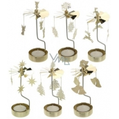 Candlestick rotating carousel brass for tea candle 65 x 160 mm