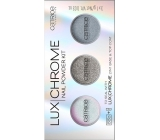 Catrice LuxChrome Nail Powder Kit set pigmentů na nehty 01 Effect Overlaod 3 x 1 g