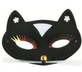 Mask ball cat black 17 cm