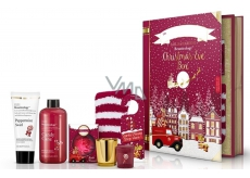 Baylis & Harding Bath Foam 500 ml + Body & Hand Milk 130 ml + Sparkling Bath Ball + Votive Candle with Gold Stand + Festive Door Clip + Socks Red Christmas Kit
