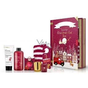 Baylis & Harding Red 500 ml bath foam + body and hand lotion 130 ml + sparkling bath ball + votive candle with gold stand + festive door handle card + socks Red set for Christmas day