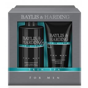 Baylis & Harding Men Amber and Sandalwood shower gel 200 ml + liquid soap for body and hair 300 ml cosmetic set for men