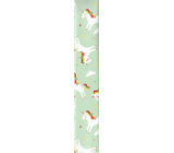 Ditipo Gift wrapping paper 70 x 200 cm Light green with unicorns