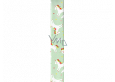 Ditipo Wrapping paper light green with unicorns 100 x 70 cm 2 pieces