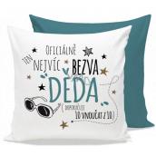 Nekupto Gift Center Pillow with dedication Crack grandpa 30 x 30 cm